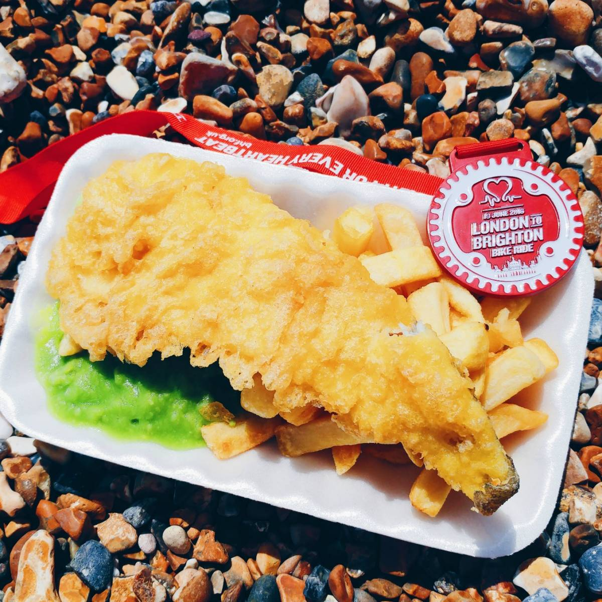 London to Brighton fish + chips