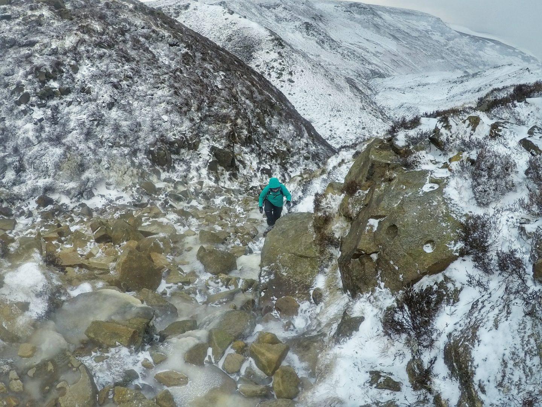 Snowy adventures in Peak District