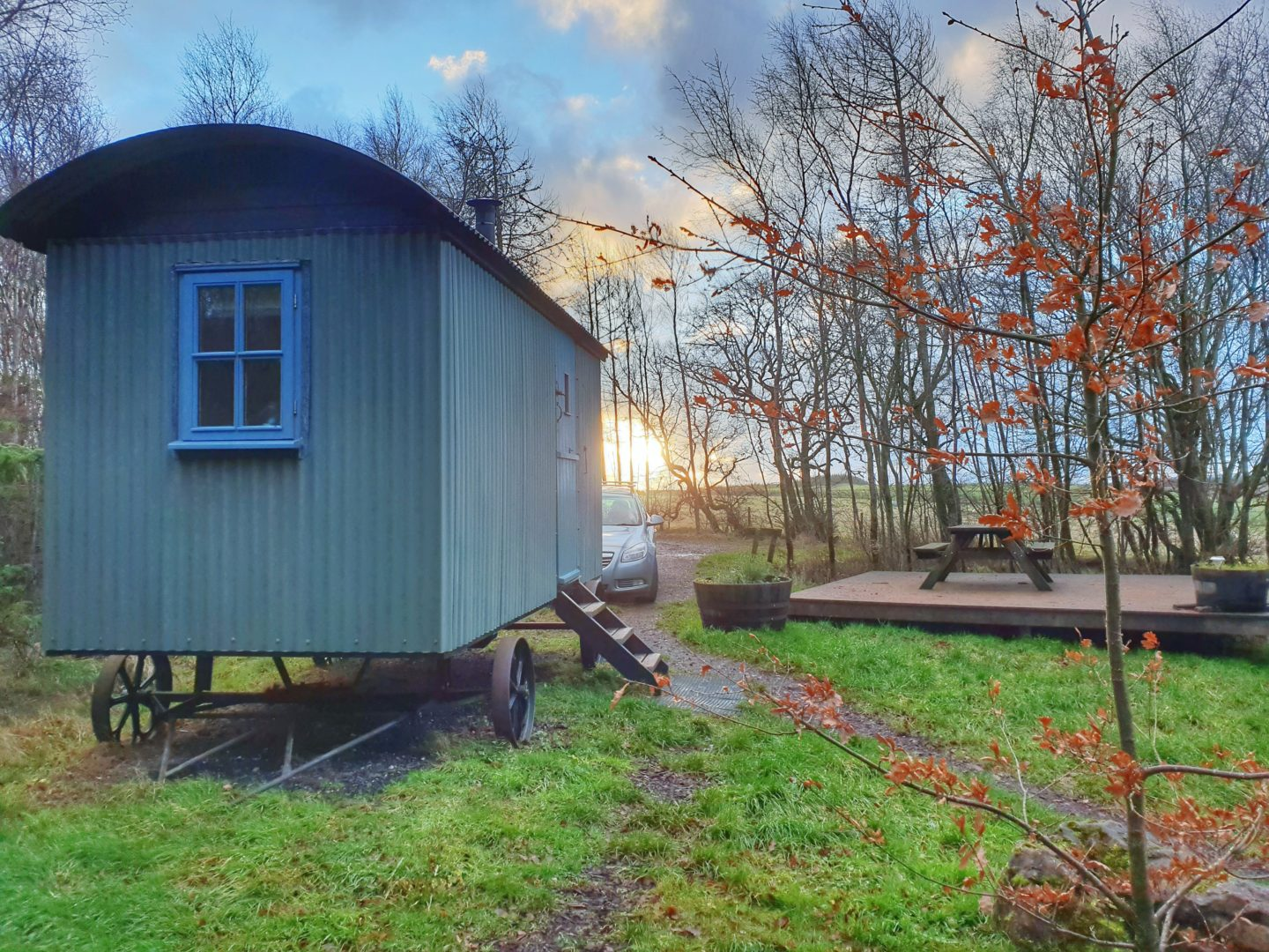 Blencathra shepherds hut on Scales Plantation in the Lake District
