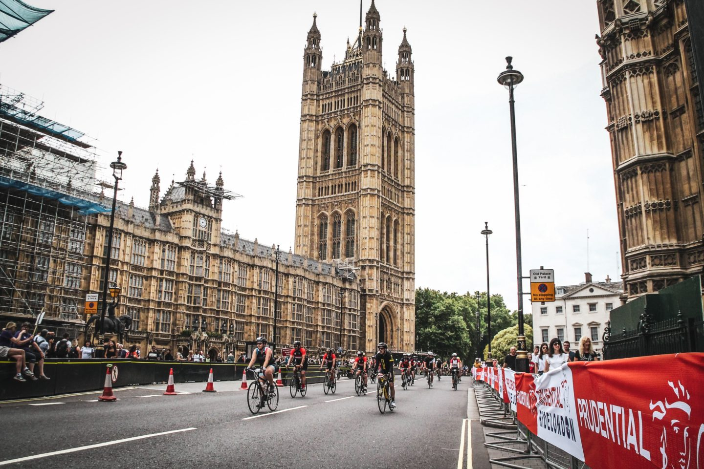 RideLondon 46 - cycling past Westminster