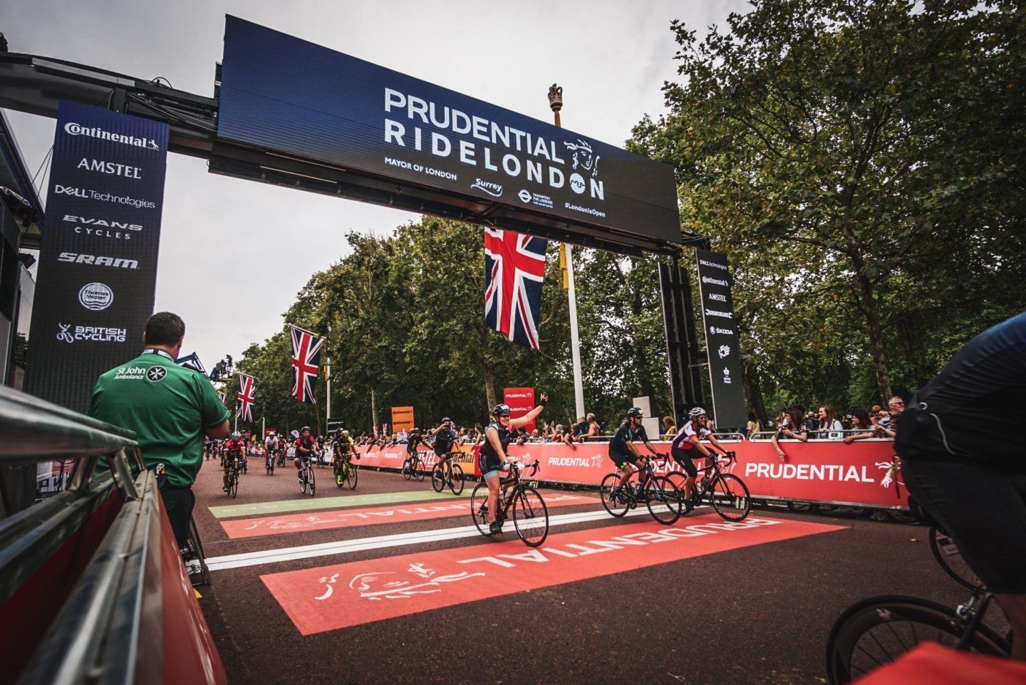 RideLondon 46 - crossing the finish line