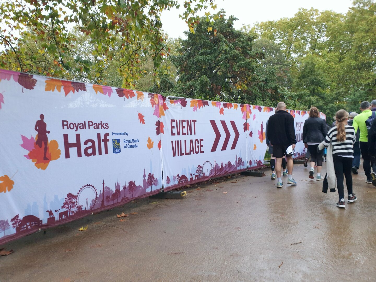 Royal Parks Half Race Village branding
