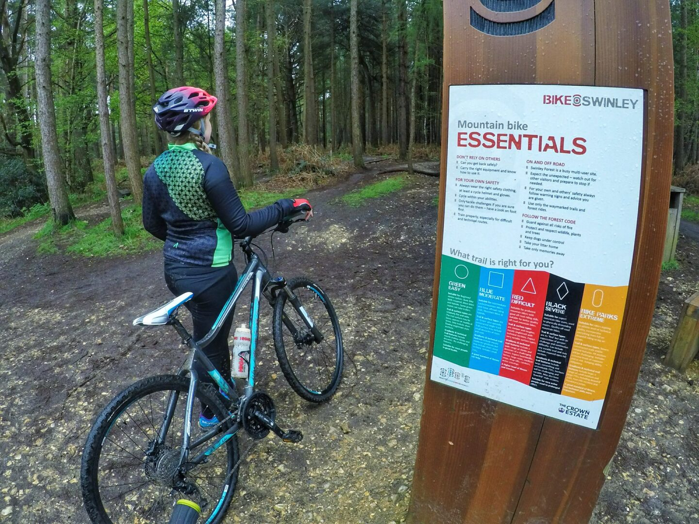 Mountain biking at Swinley Forest